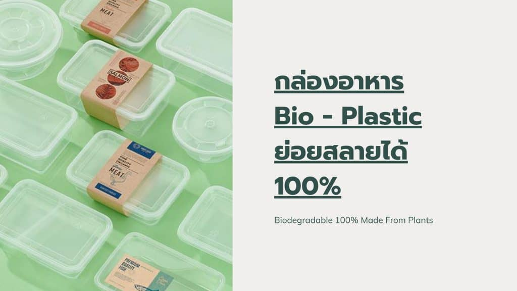 กล่องอาหารพลาสติก รักษ์โลก